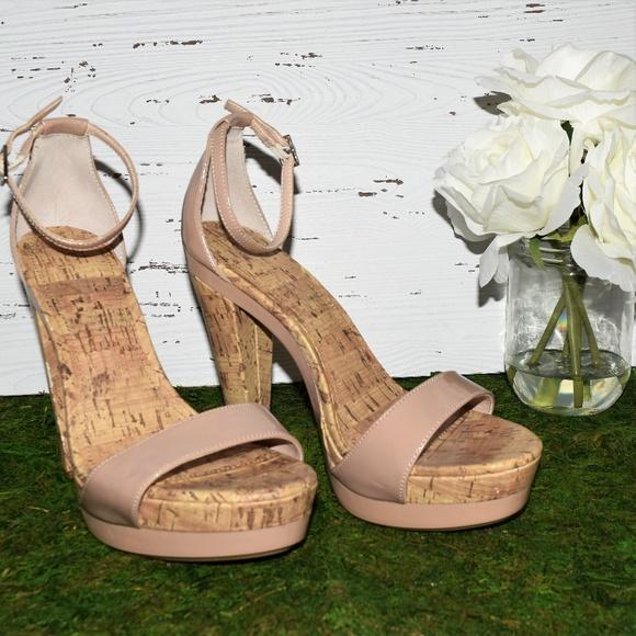 bbbb058a5ff LC Lauren Conrad Shoes - Lauren Conrad nude corkscrew strappy heels